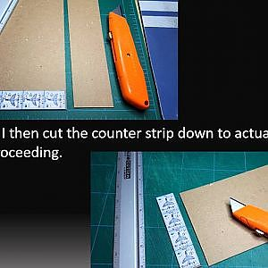 Double Sided Counter Construction - YouTube